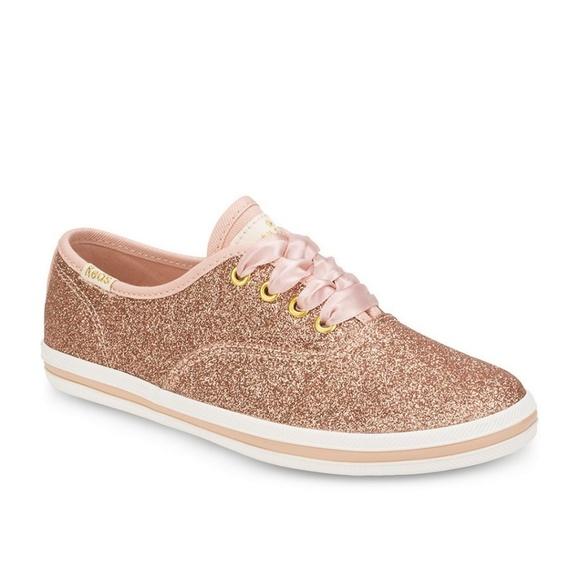 dfc393b30703 Keds Shoes | New X Kate Spade Glitter Rose Gold | Poshmark